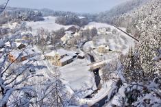Stražisko v zimě