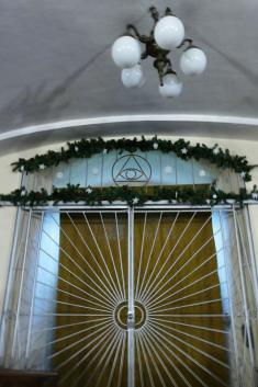 Vánoční výzdoba kostela